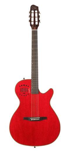 Godin Guitars Multiac Series Steel Duet Ambiance Trans Red