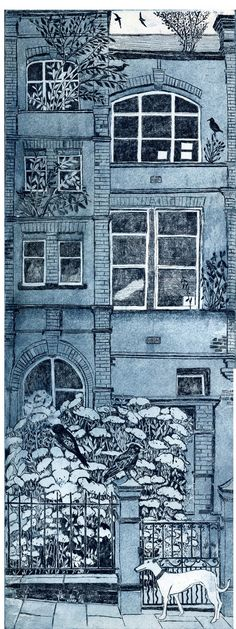 "Janis Goodman - ""Dog days"" - Etching"