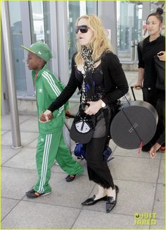 Madonna Lands in London with David & Mercy! | madonna lands in london with david mercy 01 - Photo