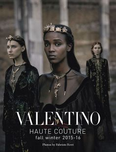 "Gothic Charm School: pretty things • hellyeahblackmodels: ""Valentino Haute Couture"" -..."