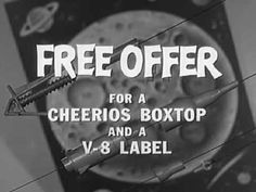 Cheerios Cereal Commercial: Space Age Moon Race & V-8 1960 General Mills https://www.youtube.com/watch?v=apRukoAHTsE #Cheerios #MoonRace