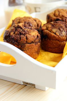 Muffins con chocolate y nueces