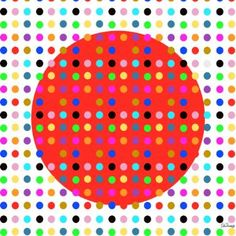 Hirst Dots Unevenly Red - Giclee Fine Art Canvas - Limited Edition 1 of 10