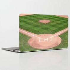 Baseball field /Baseballfeld Laptop & iPad Skin by Karl-Heinz Lüpke - $30.00