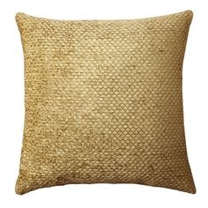 "Gold Westfield Chenille Toss Throw Pillow (18""X18"") - Threshold™ : Target"