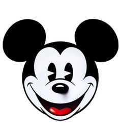Mickey mouse face | Etsy