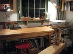 Kari Hultman's leather working shop.