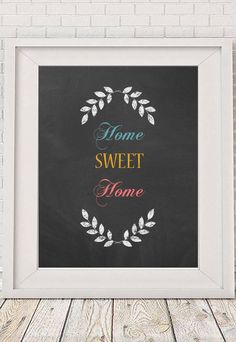 Typographic Print Printable Decor Let's Stay Home by NotMuchToSay