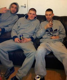 #joggers #thug #chav #gang #scally #sportswear #adidas #beer