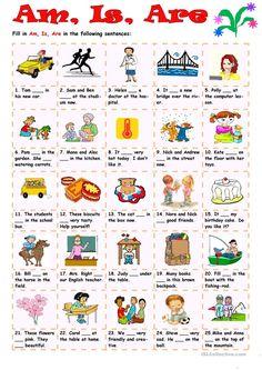 Am, Is, Are worksheet - Free ESL printable worksheets made by teachers