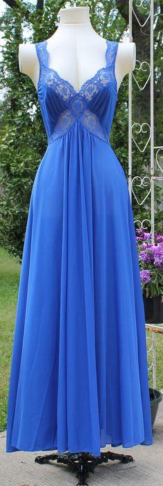 Vintage Olga Style Long Nightgown Bodysilk by LaneysThisandThat