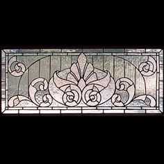 Victorian stained glass patterns: Victorian Transom 3
