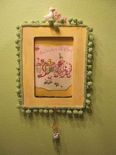 Wall art for babys room with vintage card