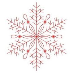 Redwork Snowflakes 1 10(Md) machine embroidery designs