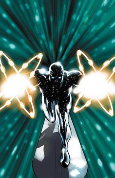 Captain Universe/Silver Surfer by Daniel Acuña Comics Spiderman, Marvel Comics Art, Marvel Comic Books, Comic Books Art, Comic Art, Marvel Comic Character, Comic Book Characters, Marvel Characters, Character Art
