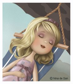 "Nina de San   Relax"" by illustrator Nina de San"