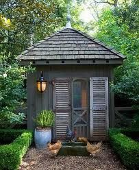 french country garden shed Never mind garden shed, I'd live here #PinMyDreambackyard