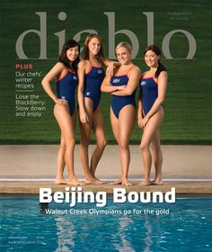 January Cover story: U. Olympic Synchronized Swim Team trains in Walnut Creek. Inside: Winter recipes, how to slow down, author Kristine Carlson on the death of her husband, and getaway to Pebble Beach. Team Pictures, Team Photos, Girl Pictures, Underwater Rugby, Women's Water Polo, Professional Swimmers, Swimming Pictures, Female Swimmers, Dancer Photography