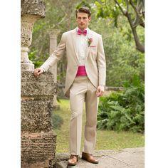 slim fit beige wedding suits for men peaked lapel best men tailcoats morning suits one button groomsmen(Jacket+Pants+Girdle)