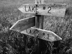 Lake Signpost by MonkeyScarGraphics on Etsy #photography #poster #decor #beautiful