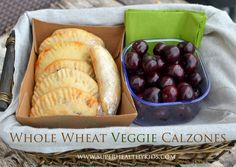 Whole wheat veggie calzones from super healthy kids #healthyandportable #dinnerideas #healthymeals