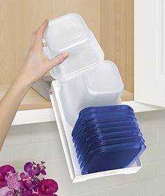 YouCopia StoraStack Food Container Storage Organizer, Cabinet Solution.