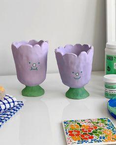 Clay Art Projects, Ceramics Projects, Clay Crafts, Diy And Crafts, Arts And Crafts, Clay Clay, Ceramic Clay, Ceramic Pottery, Crafty Hobbies