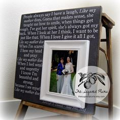 Mother Of The Bride Gift Personalized Picture by thesugaredplums, $75.00
