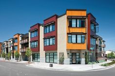 Main Street Village Apartments exemplifies sustainability by transforming a vacant lot into a densely planned mixed-use and transit-oriented development.
