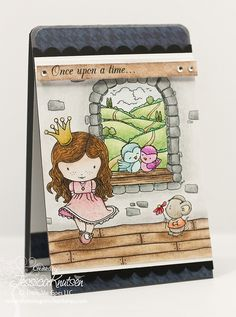 A very charming card created by Jessica Knutsen. #scrapbooking #cards #card_making