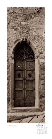 love my BW Blaustein prints! :))) La Porta Via, Cortona Print by Alan Blaustein at Art.com