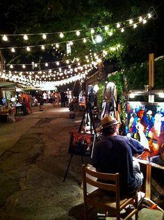 The Frenchmen Street art market is open Thursday through Sunday evenings.
