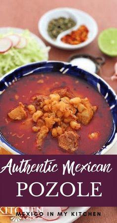 Mexican Cooking, Mexican Food Recipes, Dinner Recipes, Mexican Pork Dishes, Mexican Pork Stew, Mexican Desserts, Dinner Ideas, Pozole Recipe Pork, Posole Recipe Pork Shoulder