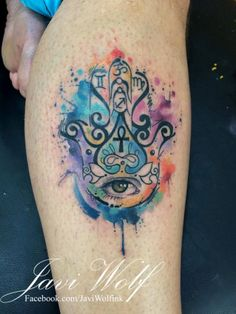 tatuajes de hamsa en colores - Buscar con Google