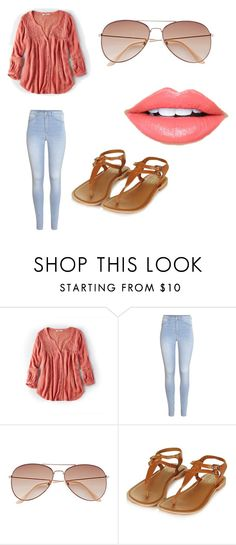"""Outfit 627"" by that-girl-j ❤ liked on Polyvore featuring American Eagle Outfitters, H&M and Fiebiger"