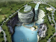 Stunning Underground Resort in China - Songjiang Shimao Hotel, designed by Atkins