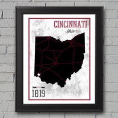 University of Cincinnati Print by UniversityPrints on Etsy, $12.00