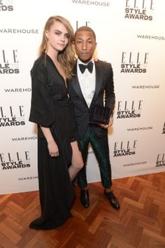 Cara Delevingne y Pharrell Williams Elle Style Awards, Pharrell Williams, Cara Delevingne, Training, Formal, Movies, Fashion, Shopping, Vacations