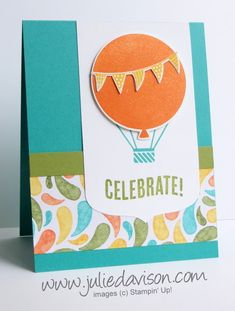 Celebrate Today Hot Air Balloon Card FMS #183