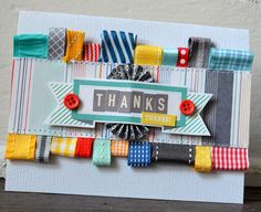 great idea to use up all those little ribbon scraps