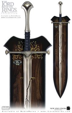 Rare Lord of The Rings Shards of Narsil Limited Edition - ovno - Listed by Sell it socially has been published on Sell it Socially Lord Of Rings, Lord Of The Rings Tattoo, Swords And Daggers, Knives And Swords, Fantasy Armor, Fantasy Weapons, Tolkien, Tattoo Guerreiro, Lotr Swords