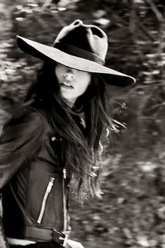 great hat and leather jacket