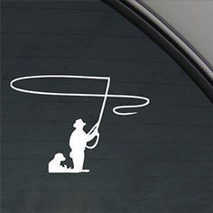 Fly Fisherman Fly Fishing Window Decal Fly Fishing Pinterest - Hunting decals for trucksonestate rack attack truck van window vinyl decal sticker
