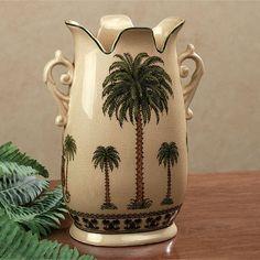 Palm Tree Table Vase Almond