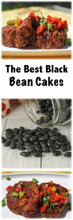 The Best Black Bean Cakes #vegetarian #bean