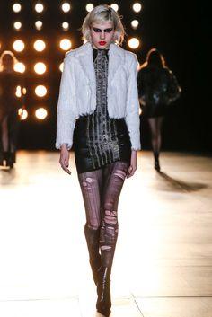 Saint Laurent Fall 2015 Ready-to-Wear Fashion Show - Julia Cumming