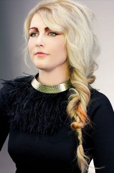 Nice stylish woman haircut