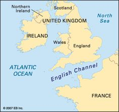 English Channel Map English Channel Location Facts Major Bodies of