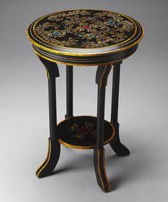 Look at this #zulilyfind! Painted Botanical Accent Table #zulilyfinds