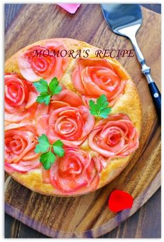 HMリンゴ薔薇ケーキ (3)